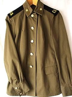 Soviet USSR Original Army Woman Enlisted Engineering Troops Uniform 1980th Khaki