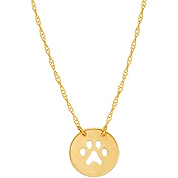 14K Yellow Gold Cat Pendant on an Adjustable 14K Yellow Gold Chain Necklace