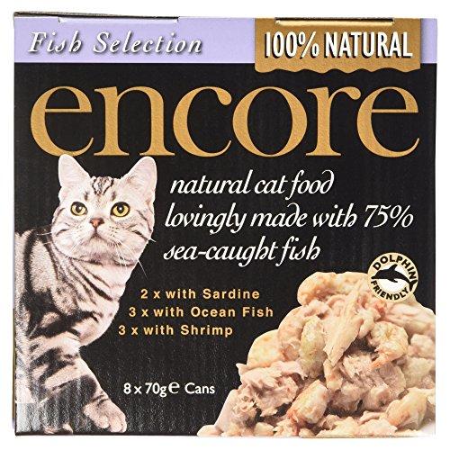 Encore Natural Cat Food Fish Selection, 8x70g