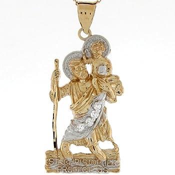 23 mm Jewels Obsession 14K White Gold Saint Lazarus Pendant