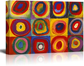 Abstract Canvas Art Squares with Concentric Circles Squares with Concentric Circles by Wassily Kandinsky Giclee Canvas Prints Wrapped Gallery Wall Art | Stretched and Framed Ready to Hang - 16