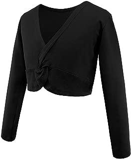 Girl's Dance Crop Tops Ballet Wrap Shrug Sweater Long Sleeve