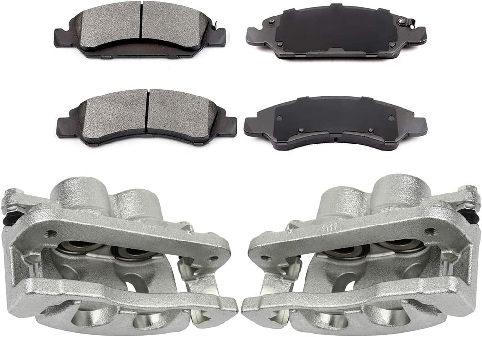 TUPARTS Front OE Brake Caliper Pair + Pads Factory outlet Ceramic fit Sale Special Price for 0 4