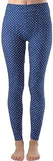 Women's Fashion Seamless White Polka Dot Full-Length Footless Leggings