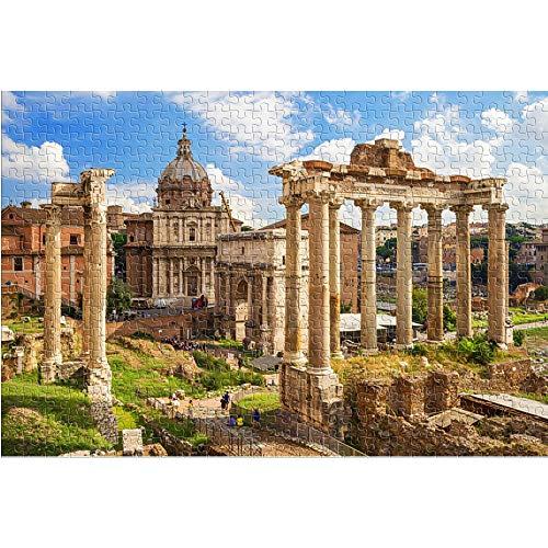 KKASD Puzzle für Erwachsene 1000 Teile Roman Forum Puzzle für Erwachsene 1000 Landscape Lernspielzeug DIY Geschenk Spaß Spiel (38x26cm)