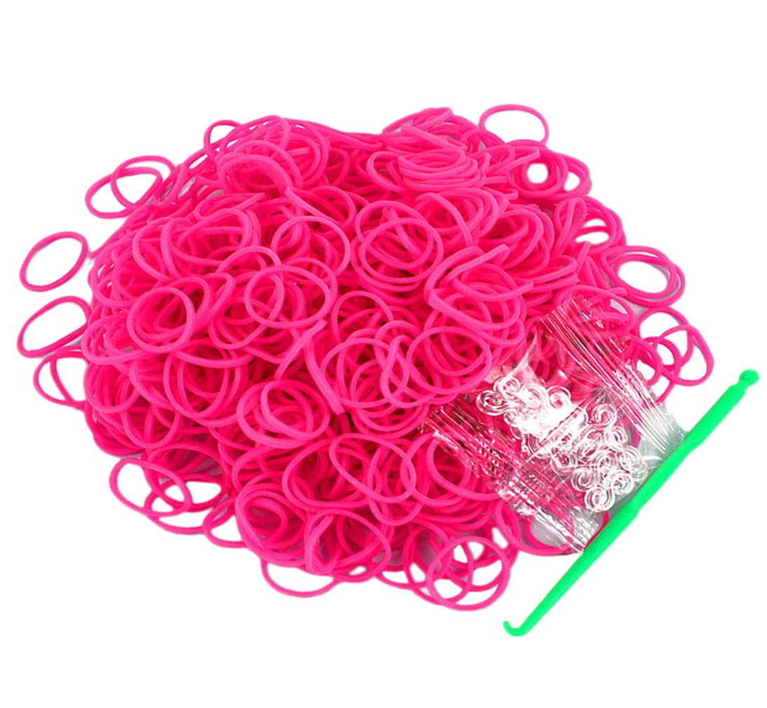3000pcs Rubber Loom Bands Barcelet Making Kit,25pcs S-Clips Salome Idea Rubber Bands Blue 5-Hooks