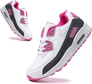 Hitmars Basket Enfant Respirantes Chaussures Running Garcon Filles Antidérapantes Chaussures de Course Mixte Enfant Noir B...