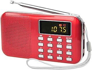 Ultra-Thin Card Mini Speaker Elderly Radio Audio Digital Point Singing Opera Machine with Emergency Flashlight MP3 Player Supports USB Disk