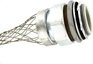 Leviton L7907 2-Inch, Straight, Male, Aluminum Body, Liquid-Tight Metal Core Conduit, Strain-Relief Grip