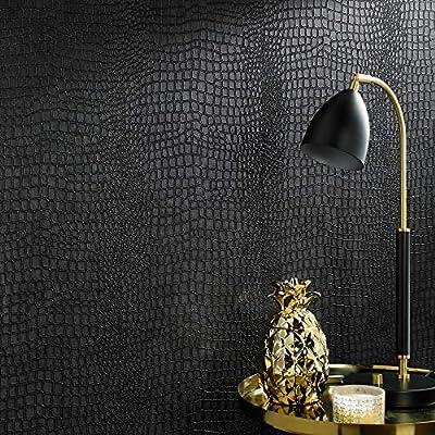 Graham & Brown 32-659 Crocodile Black Wallpaper
