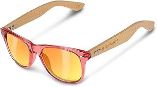 d030010e68 Navaris Gafas de sol UV400 - Gafas de madera para hombre y mujer - Gafas de