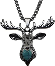 Bi Fang Necklace sapphire deer Necklace minimalist jewelry antler Birthstone men and women
