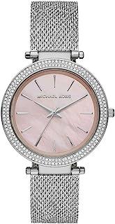 Michael Kors Darci Women's Pink Dial Stainless Steel Analog Watch MK4518, Silver, Darci, 4.05386E+12