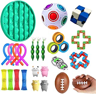 AM ANNA Sensory Fidget Toys Set,26 Pack Simple Dimple Fidgets Toy for Kids Adults Stress Relief and Adult Anxiety Relief A...
