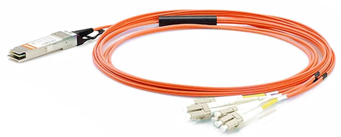 エコー息苦しいアラブ人LODFIBER F10-QSFP-8LC-AOC1M Extreme Networks対応互換 1M 40GBASE QSFP+ と 4 LC AOCアクティブ光ファイバケーブル