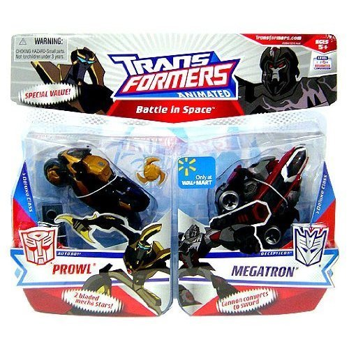 Transformers Animated Exclusive Deluxe Figure Battle in Space 2-Pack Prowl and Megatron