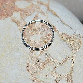NOSE RING // Silver Nose Piercing - Nose Hoop - Tragus Hoop - Forward Helix Earring - Daith Earring - Septum 24g - Cartilage Ring 24 gauge