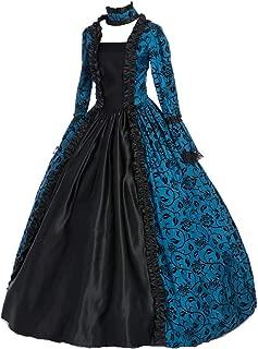 CountryWomen Renaissance Gothic Dark Queen Dress Ball Gown Steampunk Vampire Halloween Costume