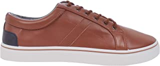 Duke D555 Mens Zenon Wide Fit Lace Up Casual Low Rise Trainers - Brown - 13