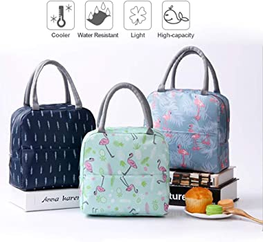 Insulated Lunch Bag Tote Bag for Women Wide Open Insulated Cooler Bag Water-Resistant Thermal Leak-Proof Lunch Organizer for