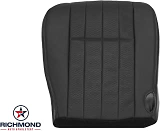 Richmond Auto Upholstery - Replacement Driver Side Bottom Leather Seat Cover (Compatible with 2005-2007 Ford F250 & F350 Harley Davidson) (Black)