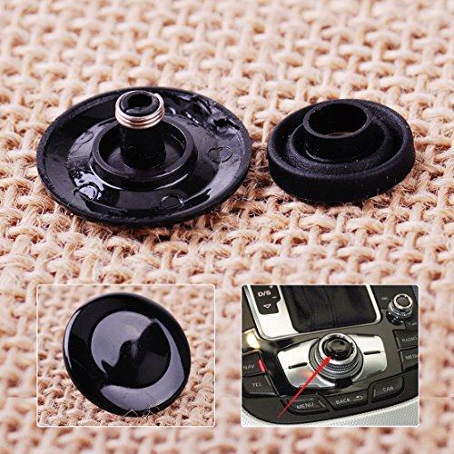 Fincos DWCX Auto Helles Schwarz MMI Knauf Joystick Button Reparatur Kit 8K0998068A 8K0998068 für Audi A4 Q7 S4 A5 A6 Q5 S6