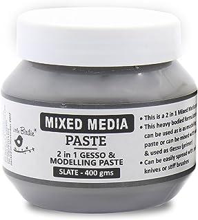 LITTLE BIRDIE-Mixed Media Paste 2 in 1- Slate 400gm