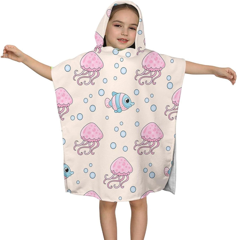 Hooded NEW Bath Towel Cute Jellyfish Surprise price Wrap Kids Bea Soft