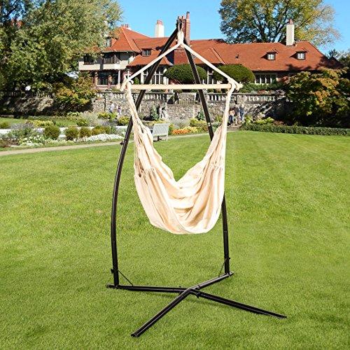 Ultranatura Serie Bali XL 200100001121-Silla Colgante con travesaño, Beige, 185x125x5 cm