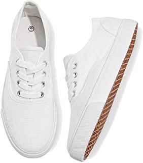 WomensCanvasShoesLow Cut CanvasSneakers Walking Running Shoes