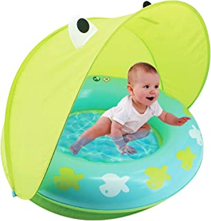 Hoovy Froggy Sun Protection Pool | Indoor & Outdoor Baby Play Gear | Toys for Newborn | Mini Swimming Accessories for Kids and Toddlers | Best Gift for Girls & Boys | Portable & Compact Swim Items