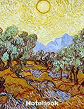 """Notebook: Vincent Van Gogh Notebook Journal To Write In 8,5x11"""" 100 Lined Pages -  Harvest In Provence - Cool Artist Gifts"""