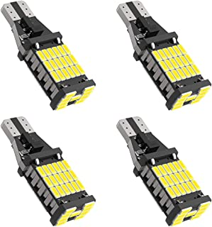 4Pcs Super Bright 921 T15 912 W16W LED Bulb 4014-45SMD Chips 912 LED Bulbs Used For Backup Reverse Lights, 1500 Lumens 6500K Xenon White