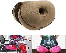 MFLB Cojín Dual Comfort Cushion Lift Hips Up, cojín ortopédico de Espuma viscoelástica para el Dolor Lumbar, Alivio de la presión del Dolor de la Cola, la ciática y el Dolor de Cadera (Brown)