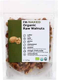 Naked Organic Raw Walnuts, 125g