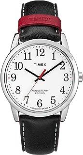 Timex Men's Quartz Watch, Analog Display and Leather Strap TW2R40000