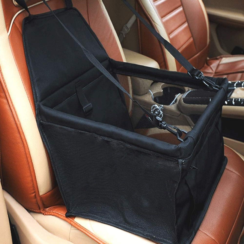 Front Seat Front Row Dog Car Bag Dog Mat Pet Car Mat Breathable Mesh Seat Cover Car Waterproof Bag (color   Black)
