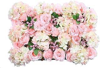 LIYONG Panneau d'écran Mural de Fleurs artificielles Romantique Floral Foldop 60x40cm Photographie Photographie Fond de la...