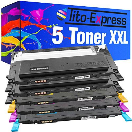 Tito-Express PlatinumSerie 5 Toner XXL kompatibel mit Samsung CLT-4092S | Geeignet für CLP-310 CLP-315 CLX-3170 CLX-3175 K NK WK FN FW N W | Black 2.500, Color je 2.000 Seiten Druckleistung