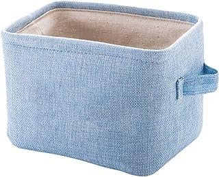 Corbeilles à linge Paniers à Linge Panier de Rangement en Tissu Boîte de Linge de Coton Boîte de Rangement de Bureau Panie...