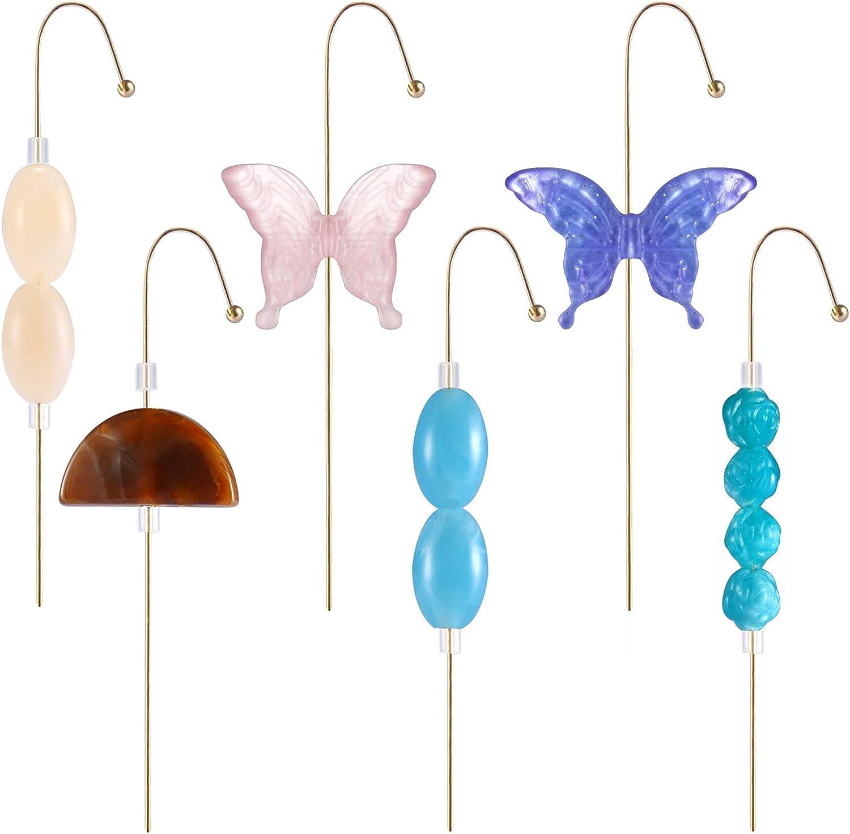 6PCS Ear Wrap Crawler Hook Earrings Butterfly Ear Climber Earring Piercing Ear Cuffs Set 14k Gold Plated Acrylic Cartilage Tortoise Ear Cuff Cubic Zircon Rhinestone Hoop Earrings for Women