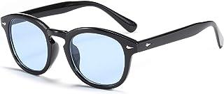 Vintage Round Sunglasses Women Colorful Summer Eyewear See Through Lens