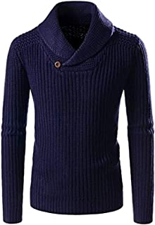 Men's Knitted Sweater Slim Fit Pullover Casual Long Sleeve Muscle Tops Blouse Beautyfine