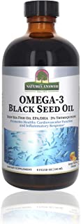 Nature's Answer Omega-3 Black Seed Oil | Deep Sea Omega-3 Fish Oil and Thymoqui Black Seed Oil | Promotes Healthy Cardiova...