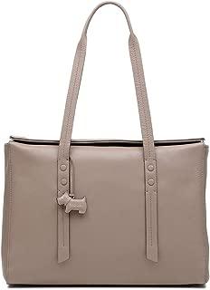 Womens Belmont Leather Flapover Tote Handbag