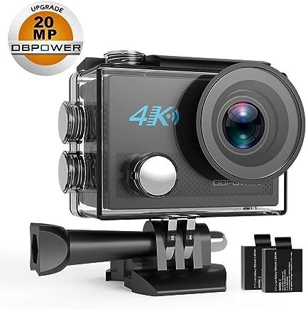 DBPOWER DB0923 N5 4K Action Camera, 5X Zoom HD 20MP Sony...