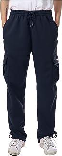 JD Apparel Mens Fleece Cargo Sweatpants Heavyweight M-5XL