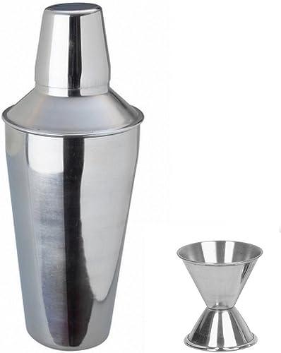Dynamic Store 2 Piece Bar Set (Large) - Regular Cocktail Shaker and peg Measure