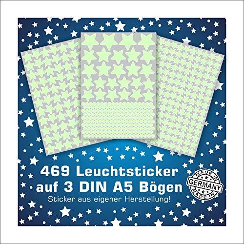 Folien-zentrum 469 Leuchtsterne Leuchtpunkte Leuchtaufkleber Wandsticker Sterne Aufkleber Sticker Kinderzimmer Schlafzimmer (Sterne)