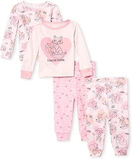 Baby Girls Printed Pajama Set, Pack of Two